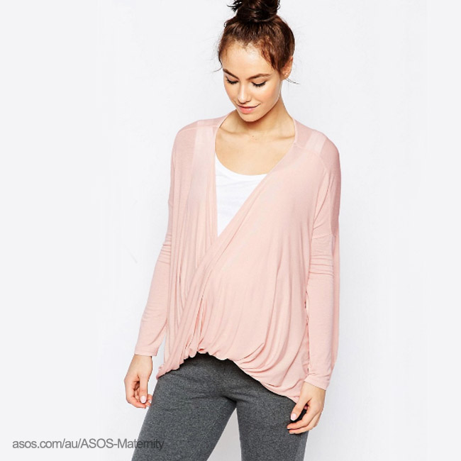 ASOS Maternity LOUNGE Tunic Top With Twist-wintersale