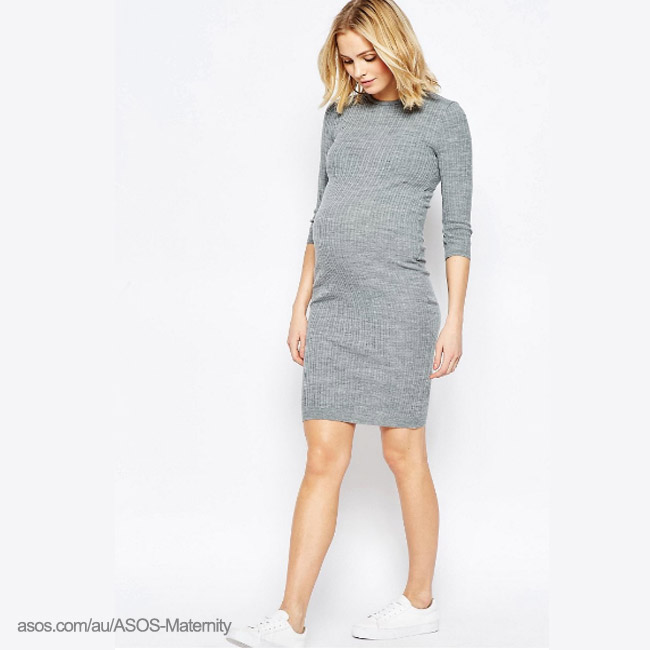 ASOS rib knit dress - winter sale