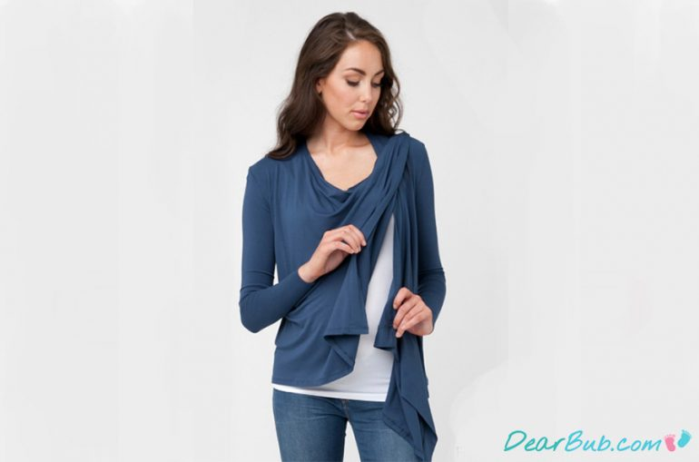Nursing wrap top | www.ripematernity.com
