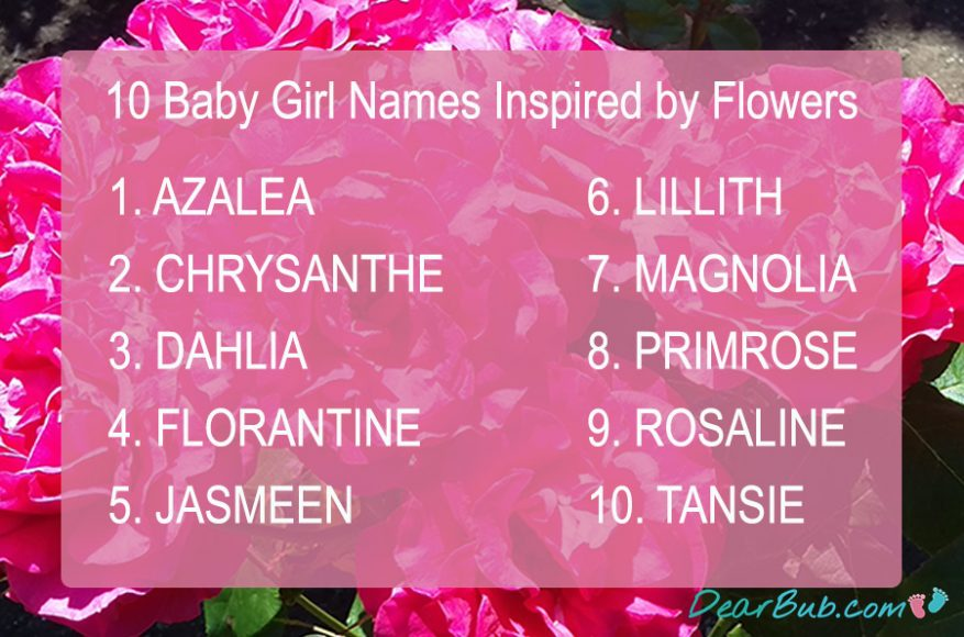 ten baby names for girls inspired by flowers-instagram-babynames-inspiration-dearbubblog